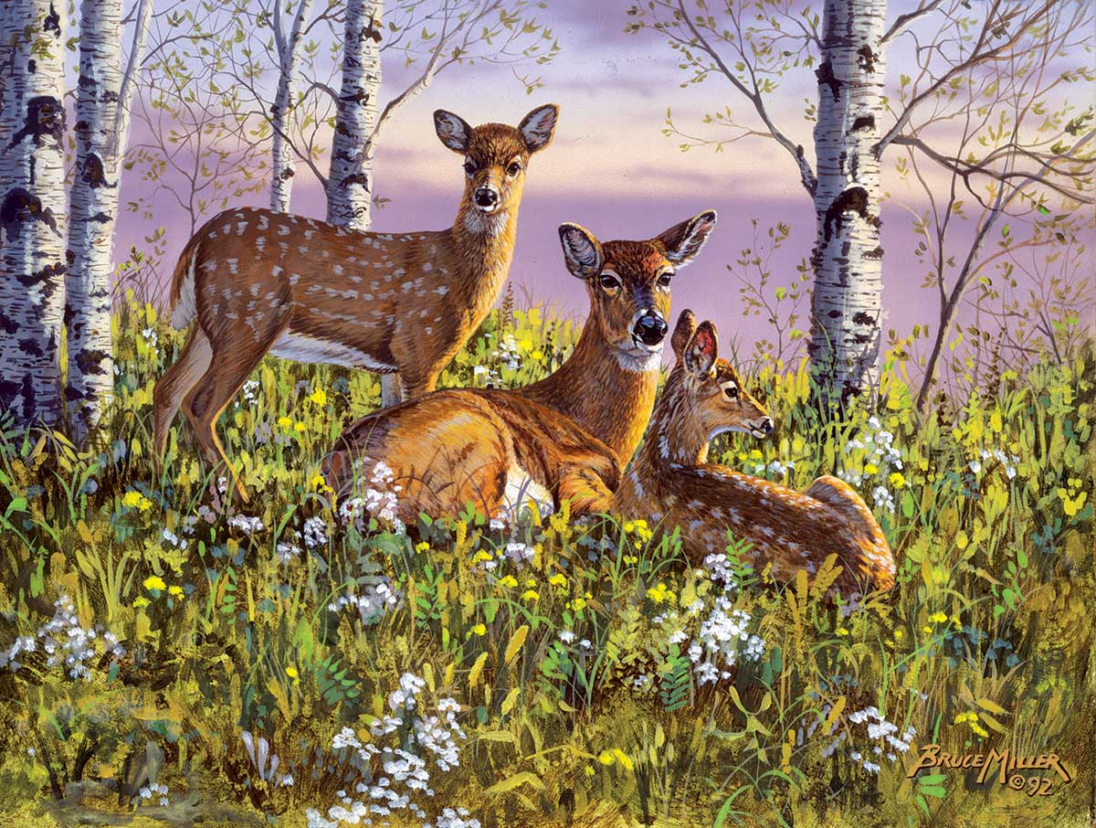 Spring twins Animals Jigsaw Puzzle