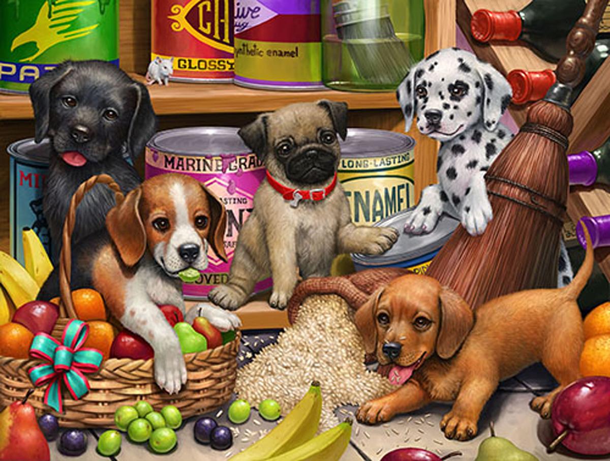 Larder Puppies Dogs Jigsaw Puzzle