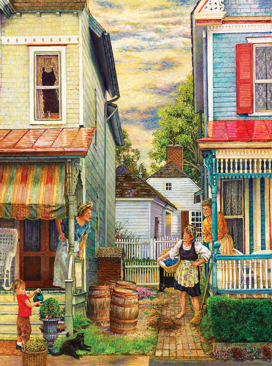 Porch Gossip Nostalgic / Retro Jigsaw Puzzle