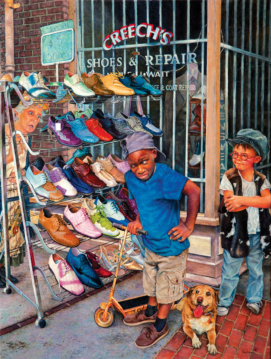 Crazy Shoes Shopping Jigsaw Puzzle