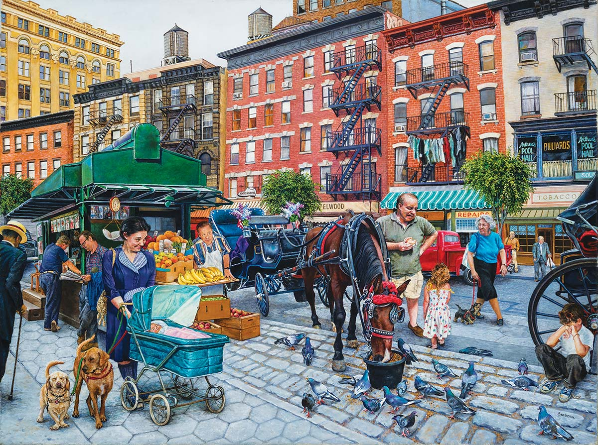 The Streets of New York Street Scene Jigsaw Puzzle