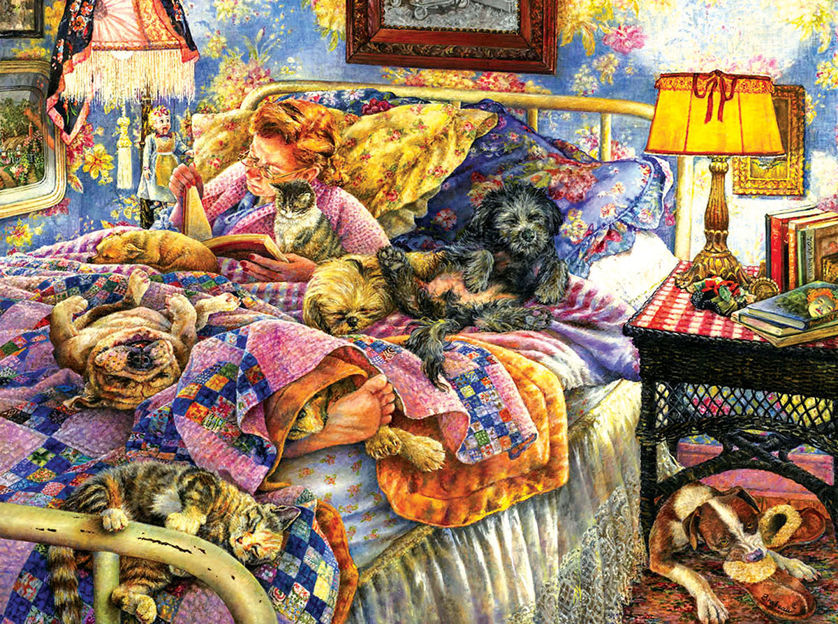 Pet Bed Cats Jigsaw Puzzle