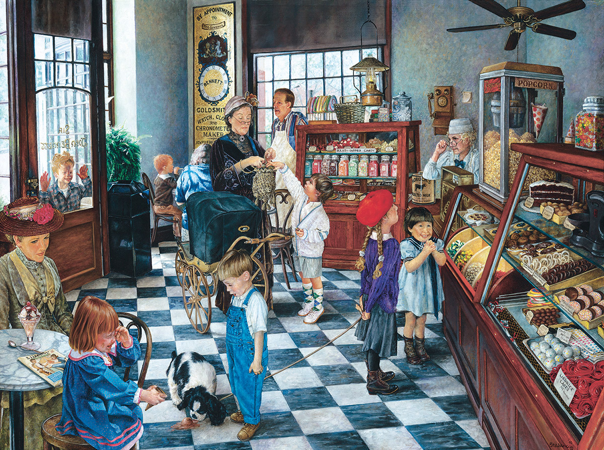 Confectionary Shop Nostalgic / Retro Jigsaw Puzzle