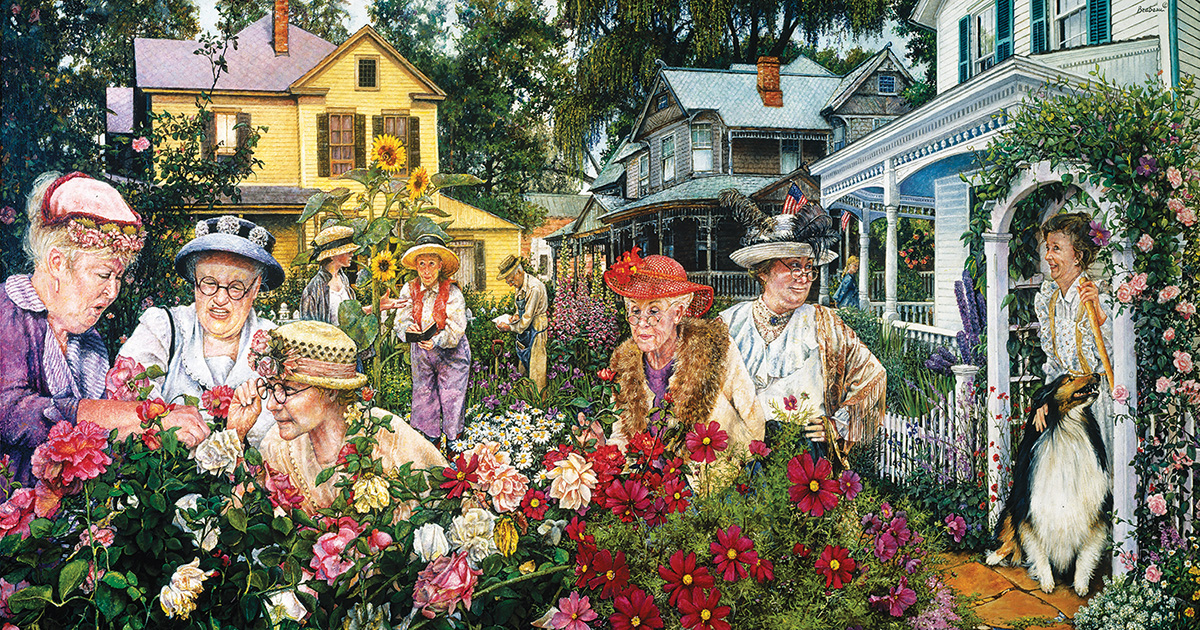 Garden Club Ladies - Scratch and Dent Flowers Jigsaw Puzzle