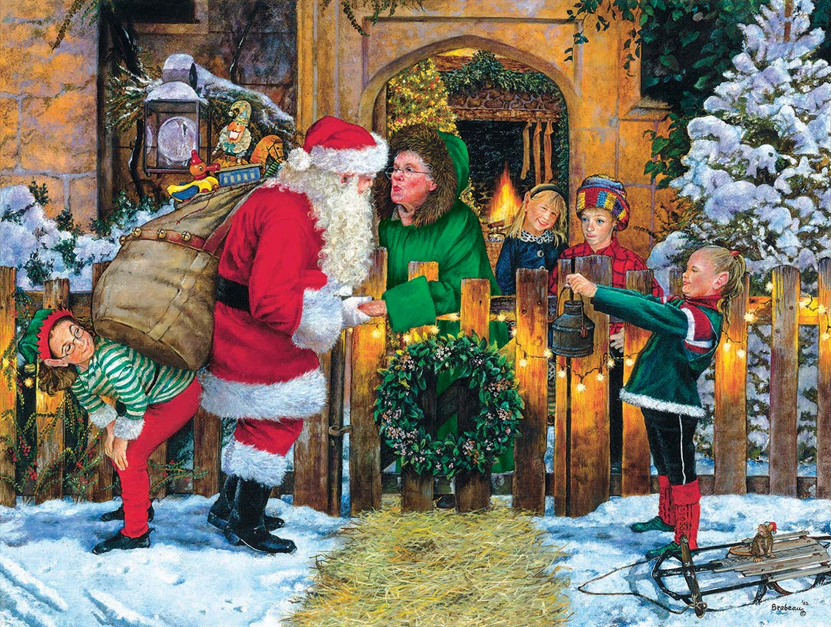 Off to Work Santa Jigsaw Puzzle