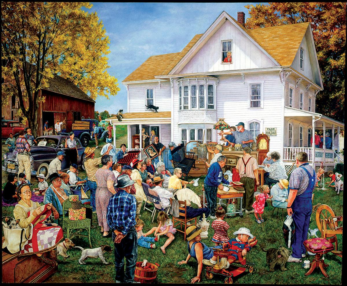 Farmhouse Auction Farm Jigsaw Puzzle