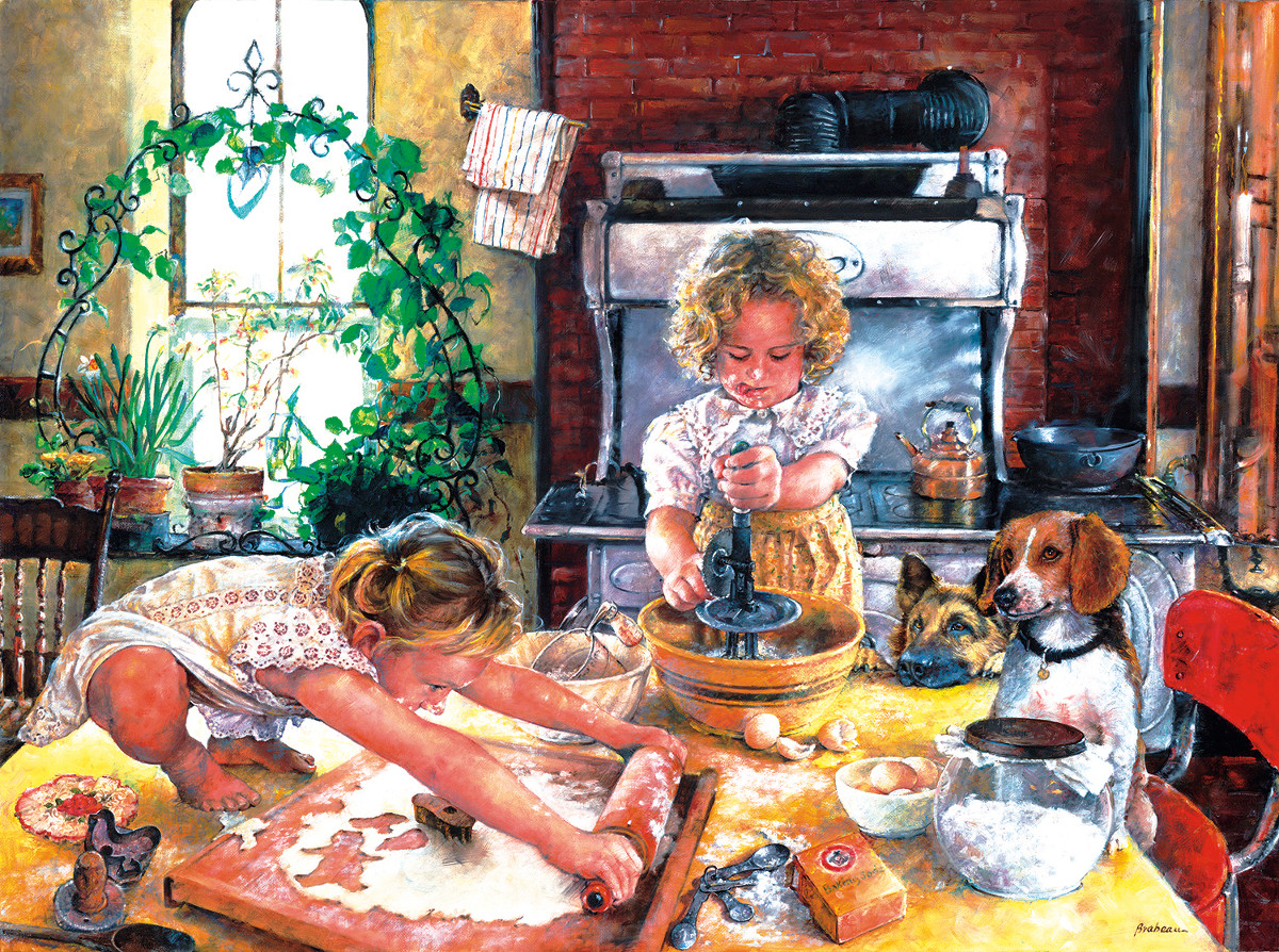 Baking Cookies - Scratch and Dent Domestic Scene Jigsaw Puzzle