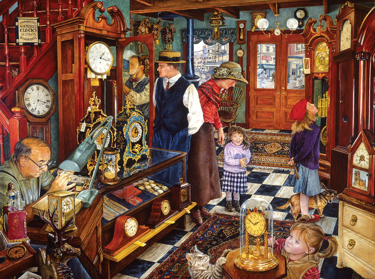 The Clock Shop Nostalgic / Retro Jigsaw Puzzle