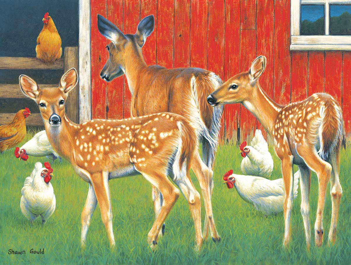 Polka Dot Twins Animals Jigsaw Puzzle