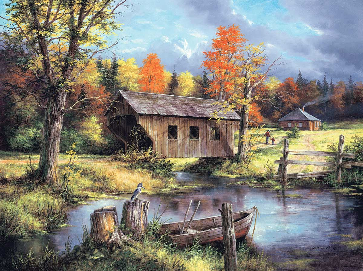 Home from the Field Landscape Jigsaw Puzzle