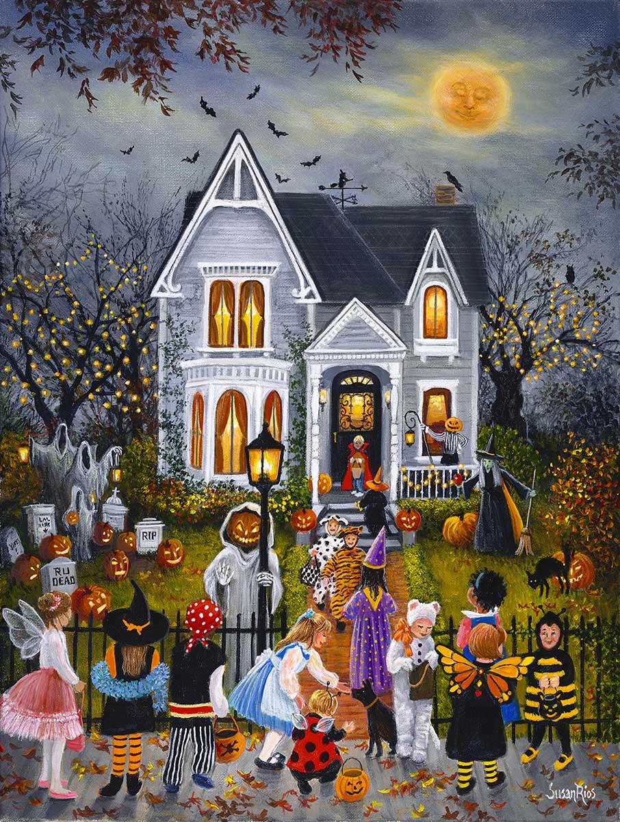 Scary Night Halloween Jigsaw Puzzle