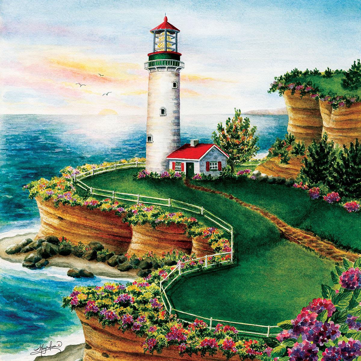 Lighthouse Sunset Lighthouses Jigsaw Puzzle