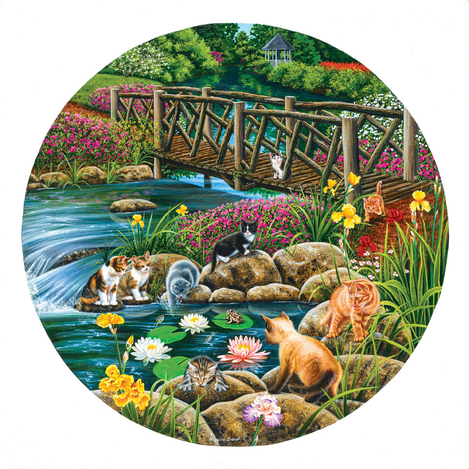 Field Cats Cats Shaped Puzzle