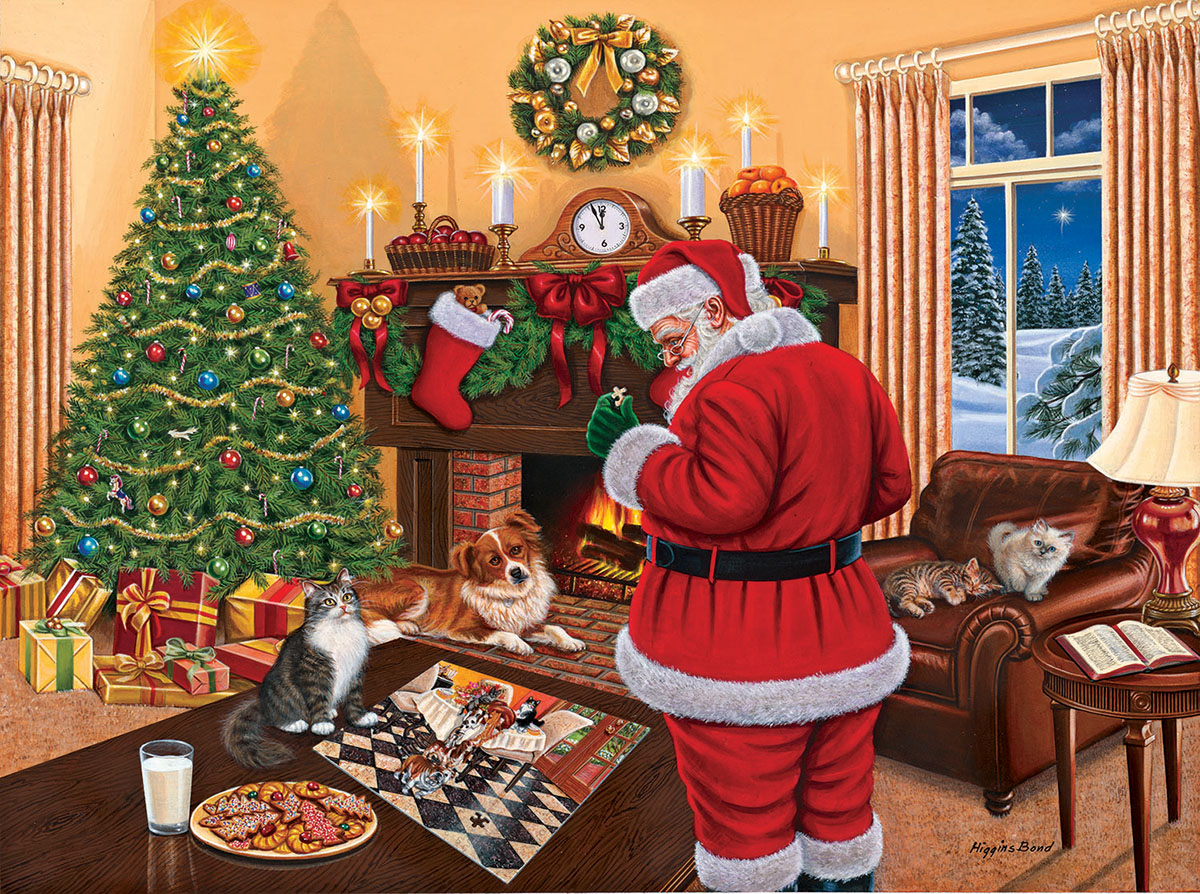 Santa Solves the Puzzle Santa Jigsaw Puzzle