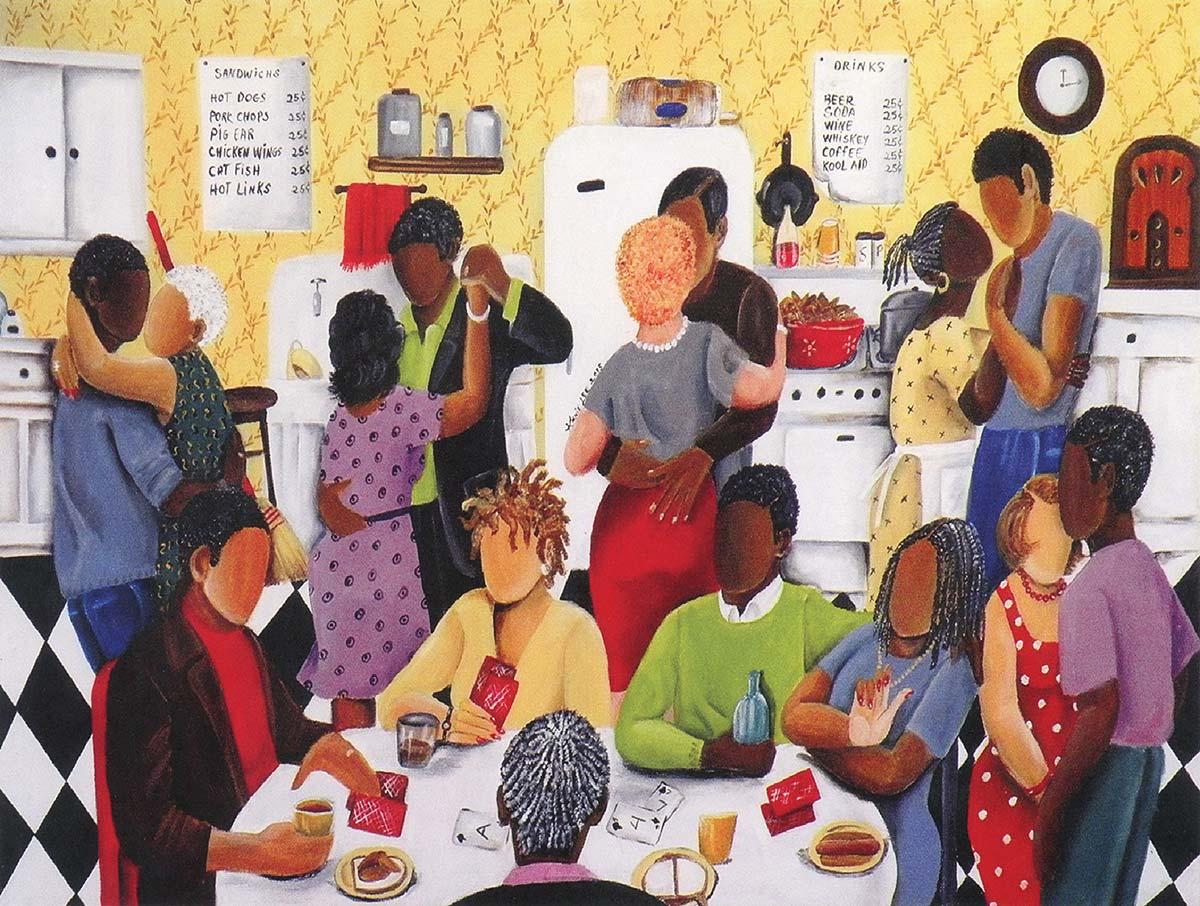 Quarter Party Domestic Scene Jigsaw Puzzle