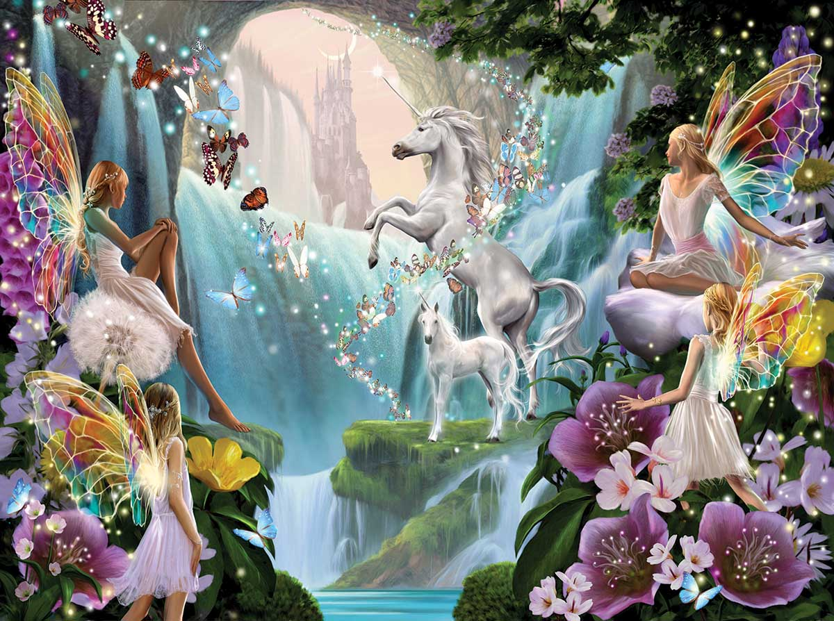 Unicorn and Fairy Castles Jigsaw Puzzle
