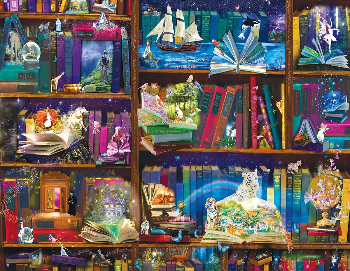 Library Adventures in Reading Fantasy Jigsaw Puzzle