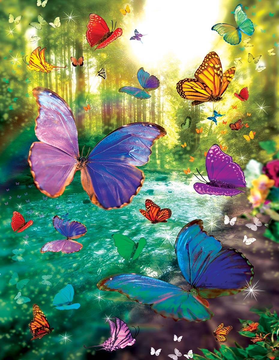 Dream River Butterflies and Insects Jigsaw Puzzle