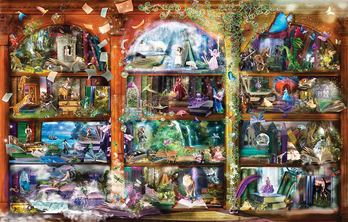 Enchanted Fairytale Library Fantasy Jigsaw Puzzle