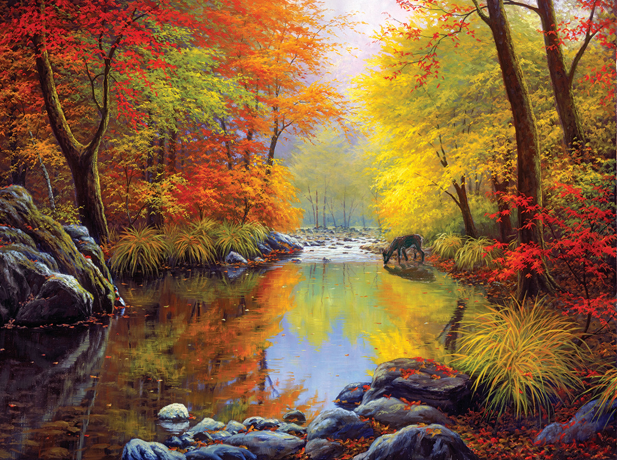 Autumn Sanctuary - Scratch and Dent Fall Jigsaw Puzzle