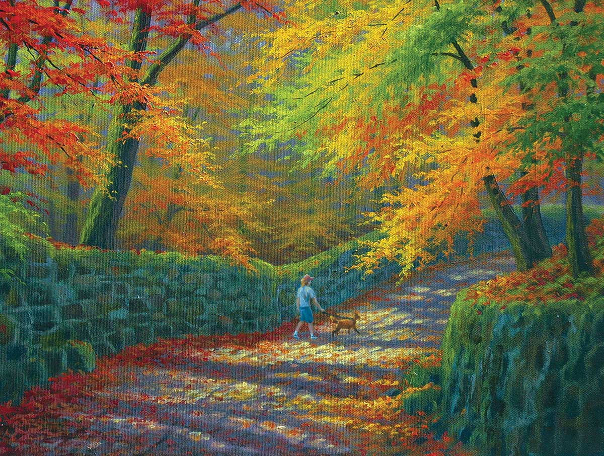 The Old Stone Wall Fall Jigsaw Puzzle