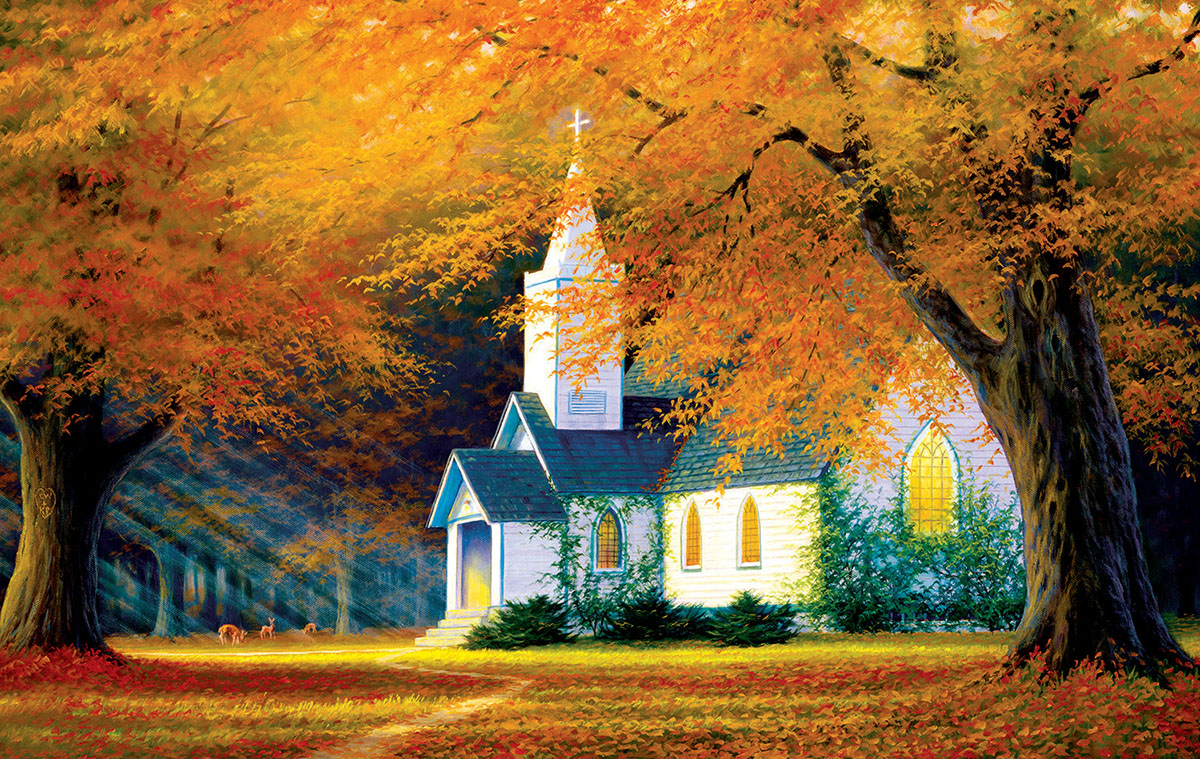Church in the Glen Fall Jigsaw Puzzle