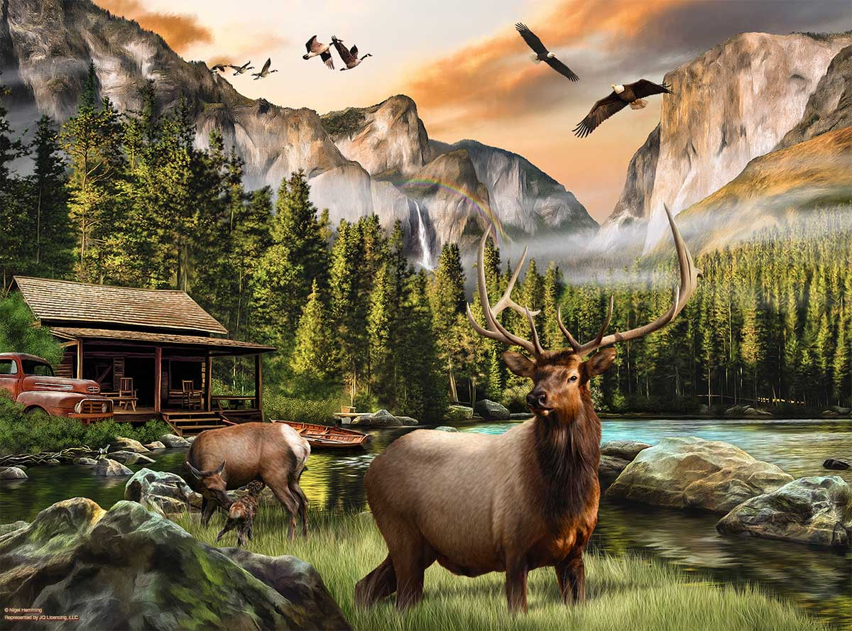 Elk Country Animals Jigsaw Puzzle