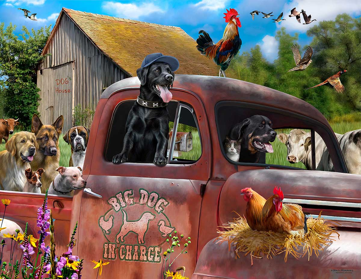 Big Dog in Charge Dogs Jigsaw Puzzle