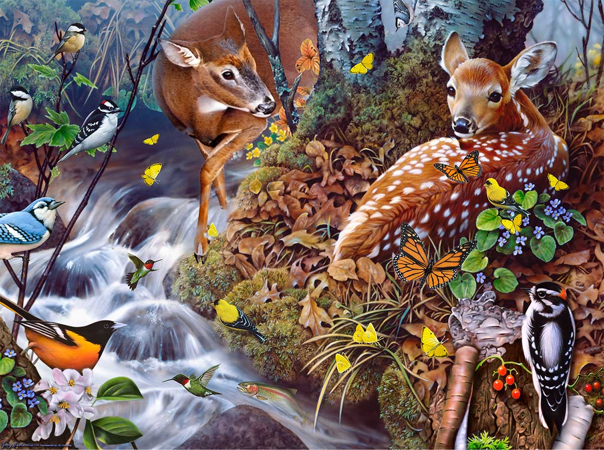 Fawn Song Animals Jigsaw Puzzle