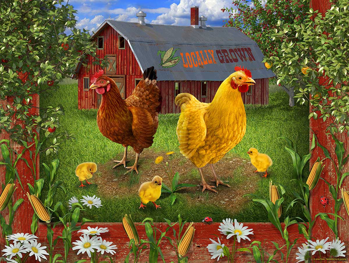 Locally grown Farm Jigsaw Puzzle
