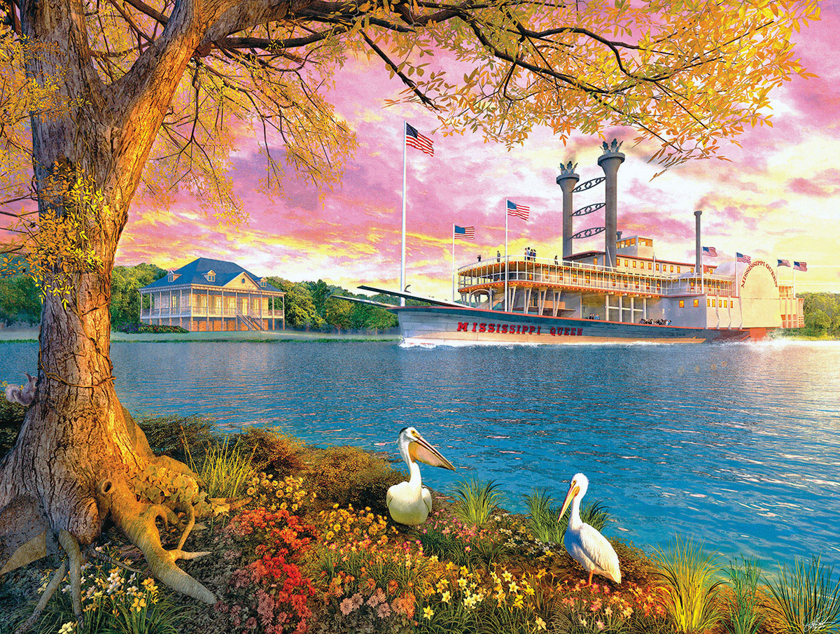 Mississippi Queen Landmarks / Monuments Jigsaw Puzzle