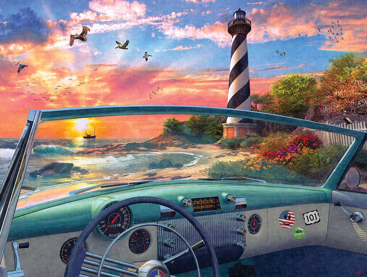 Cape Hatteras Drive Beach Jigsaw Puzzle