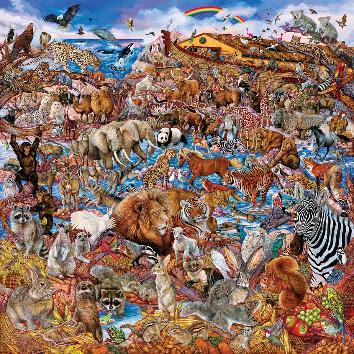 Noah's Clearing Animals Jigsaw Puzzle