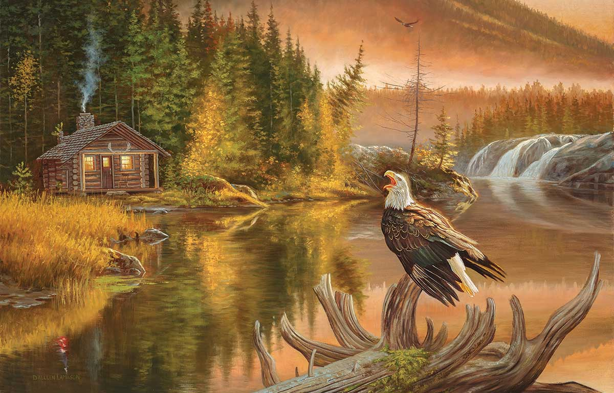 Merica Eagles Jigsaw Puzzle