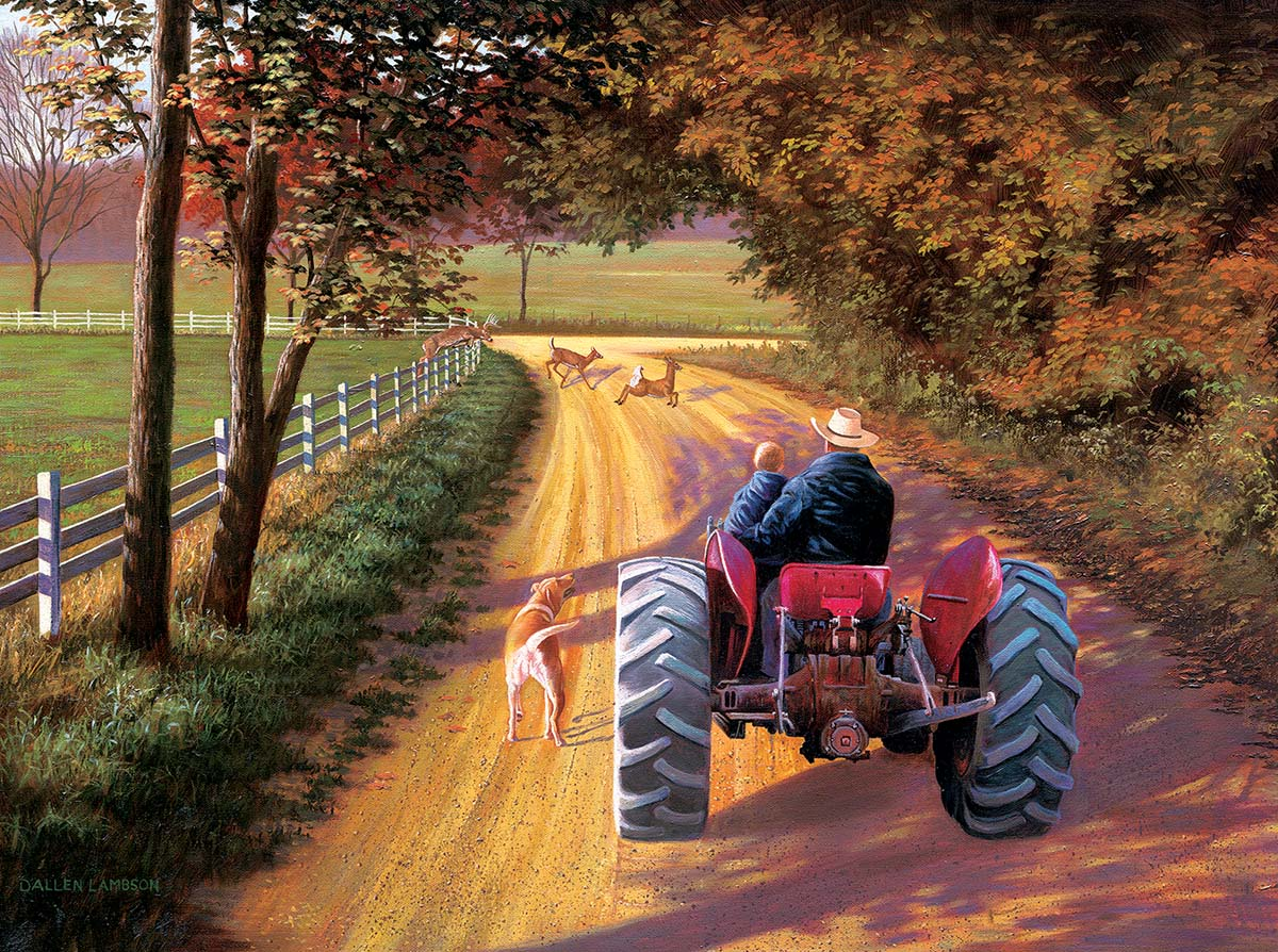 A Ride Down Memory Lane Farm Jigsaw Puzzle
