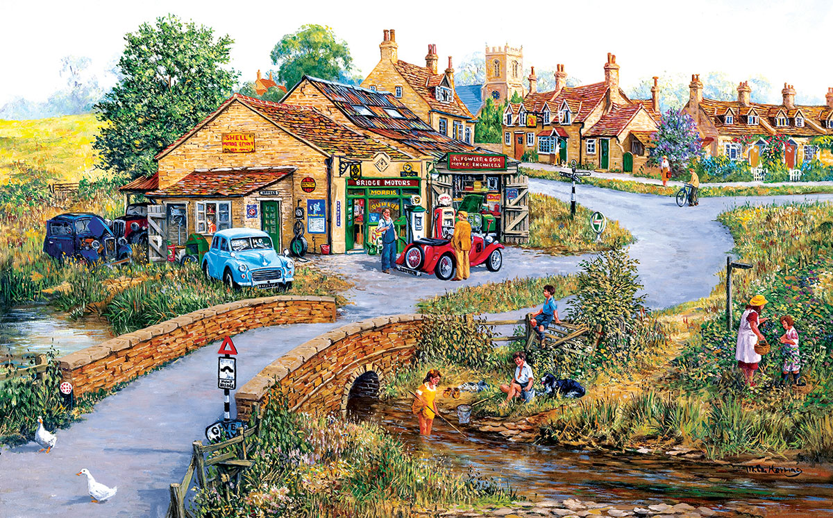 Bridge Motors Countryside Jigsaw Puzzle