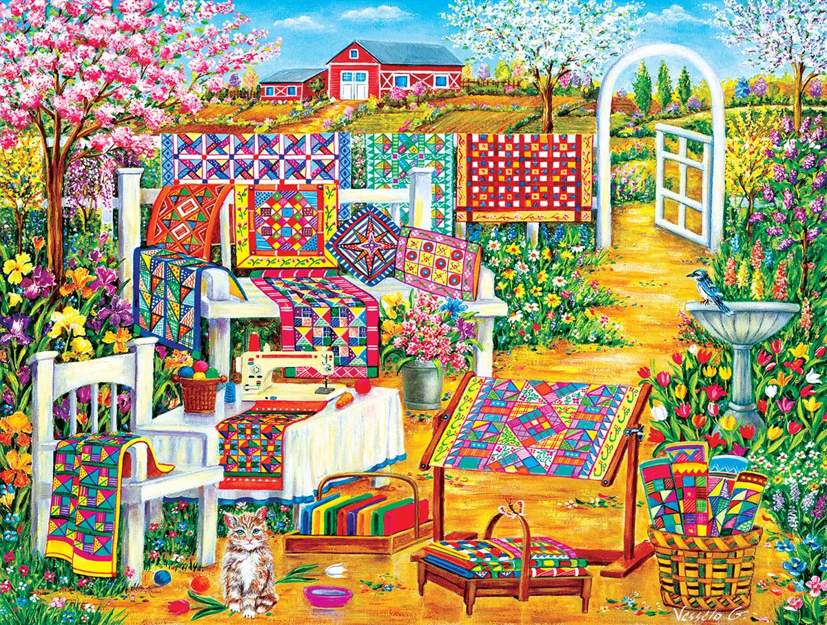 Garden Quilting Crafts & Textile Arts Jigsaw Puzzle