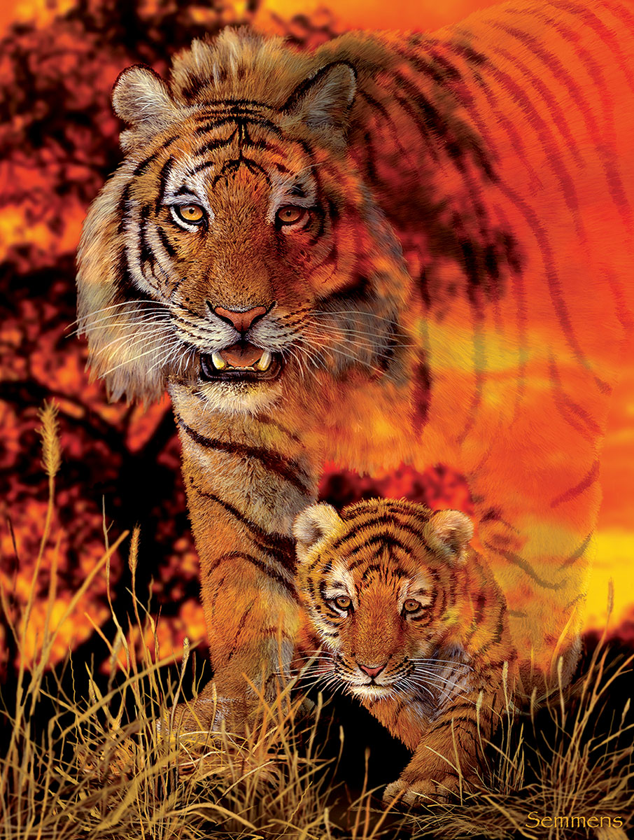 Baby Steps Tigers Jigsaw Puzzle