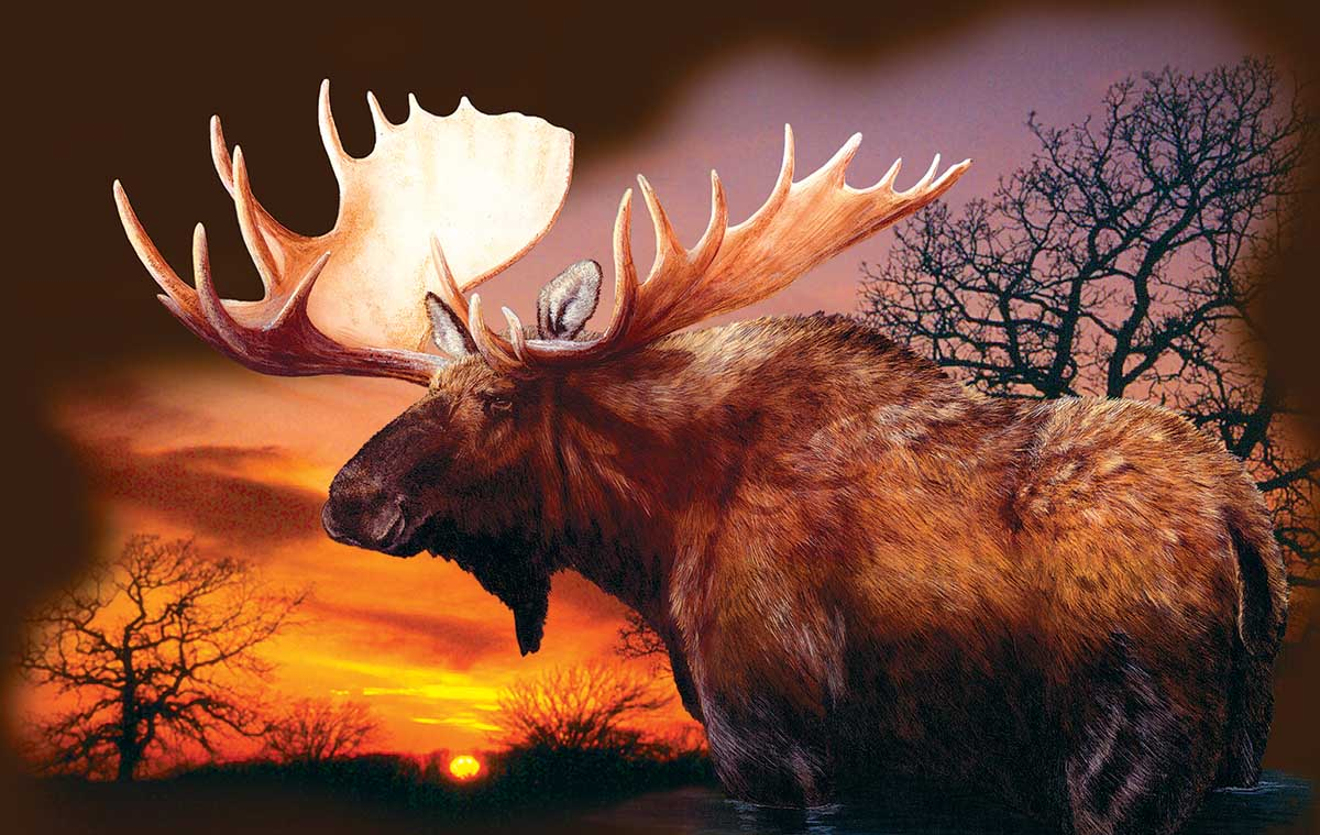 Autumn Sunset Animals Jigsaw Puzzle