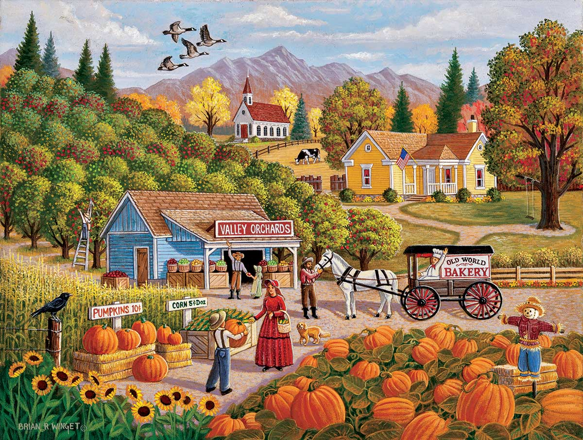 Valley Orchards Countryside Jigsaw Puzzle