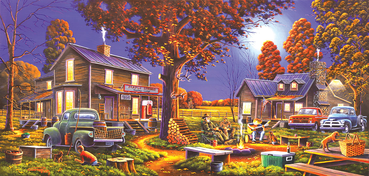 Maple Spring Retreat Nostalgic / Retro Jigsaw Puzzle