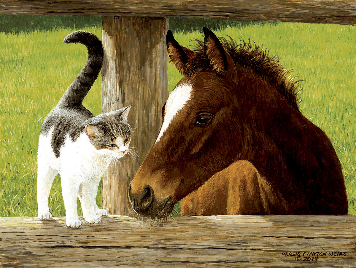 Whiskery Hello Cats Jigsaw Puzzle