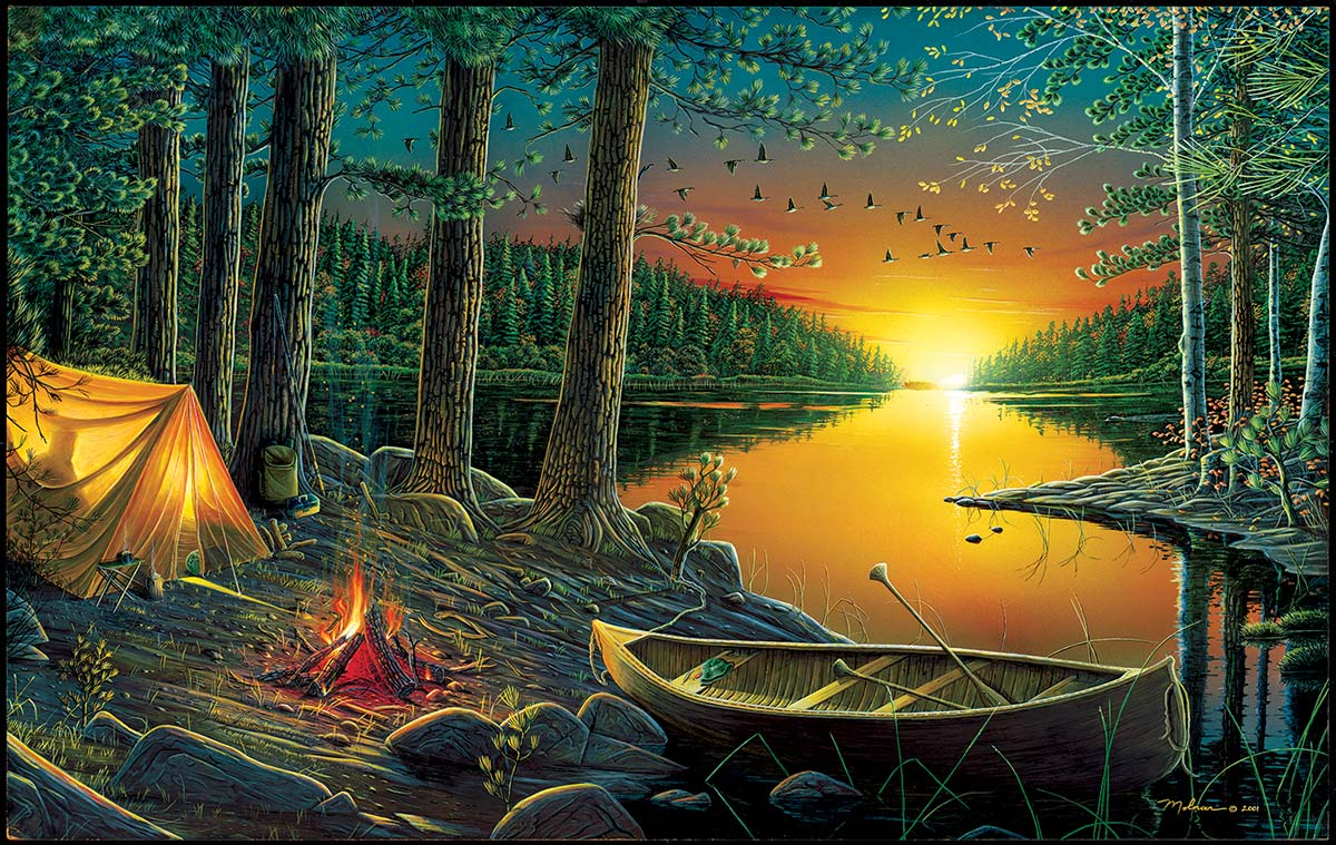 Evening by the Lake Nature Jigsaw Puzzle