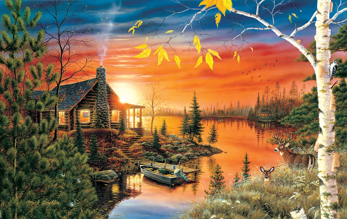 Autumn Evening Lakes / Rivers / Streams Jigsaw Puzzle