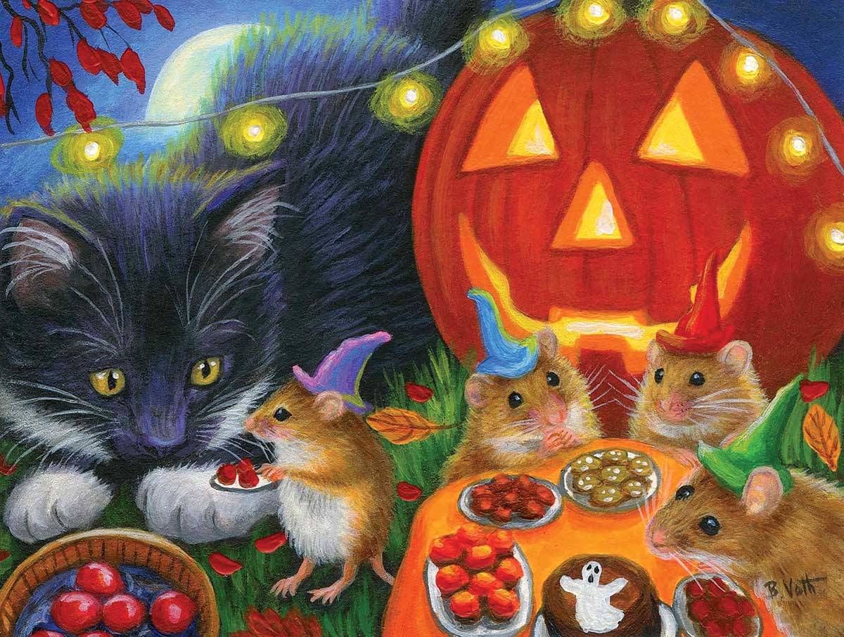 Whiskers' Halloween Eve Animals Jigsaw Puzzle