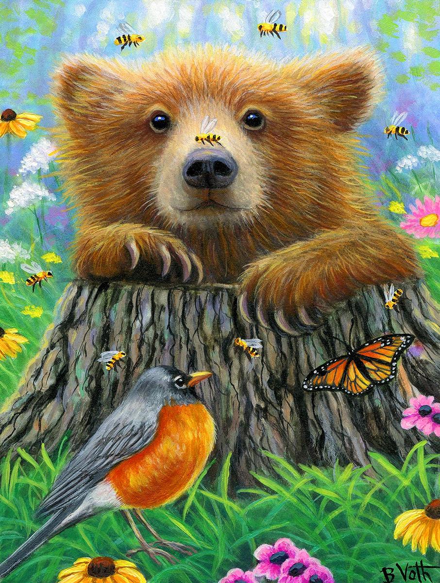 Bee Happy Bears Jigsaw Puzzle
