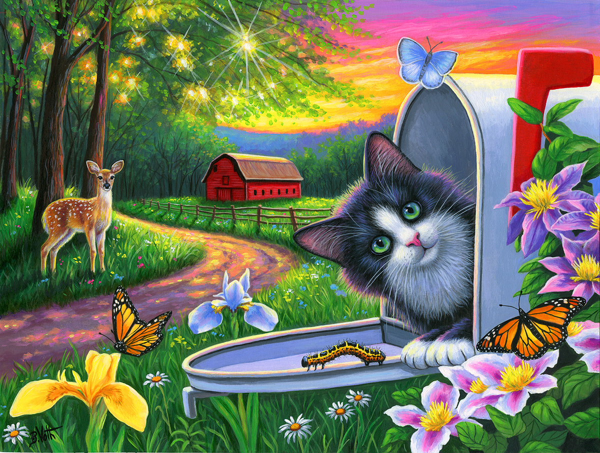 Is There a Letter for Me? Cats Jigsaw Puzzle