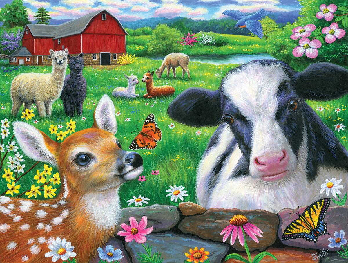 Friends in the Field Farm Jigsaw Puzzle