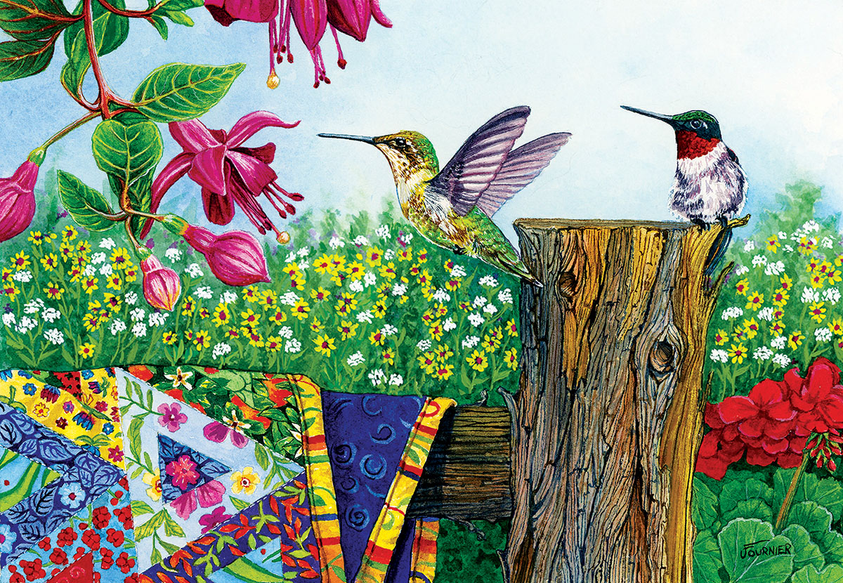 Stitchin' Post Birds Jigsaw Puzzle