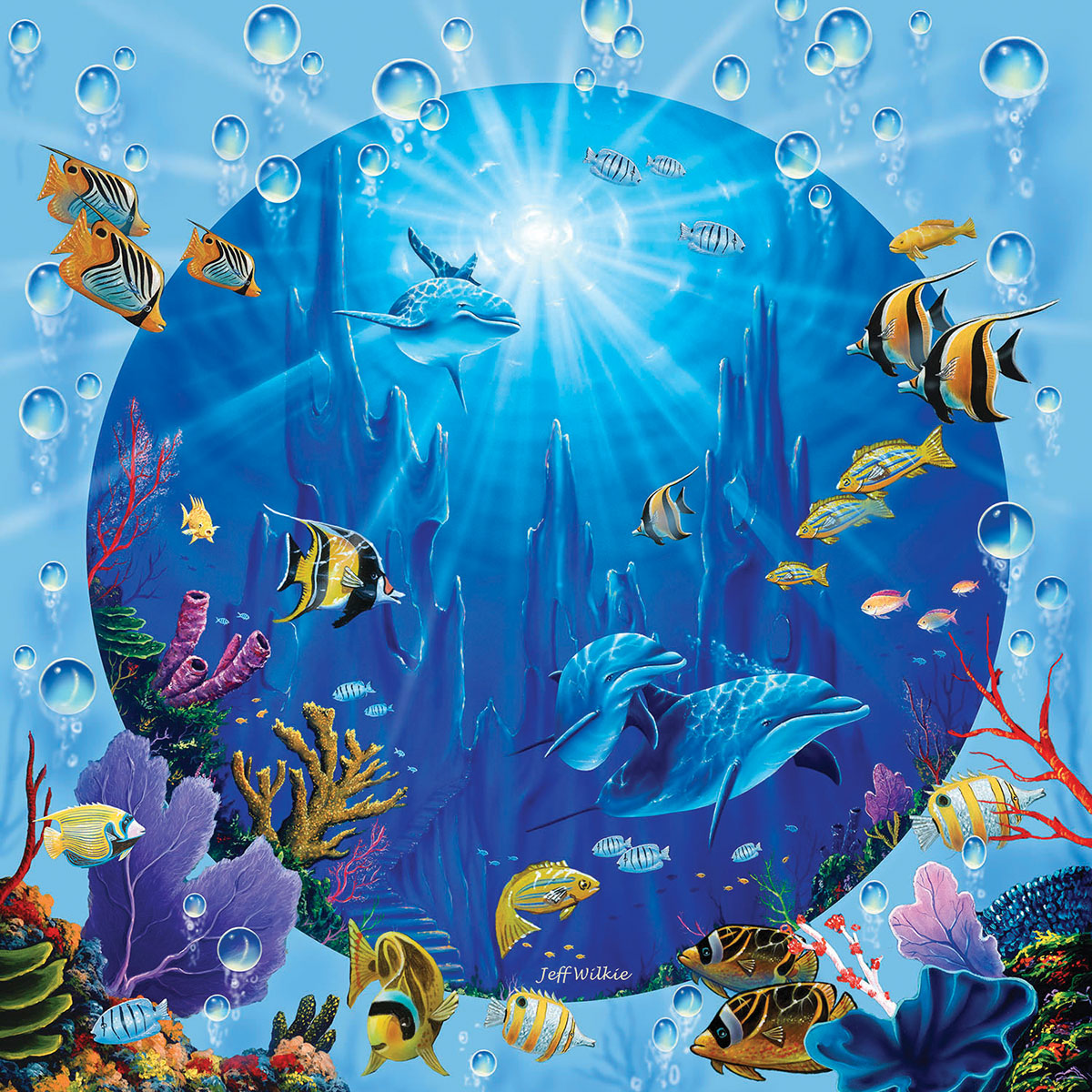 Dolphin Castle - Scratch and Dent Fish Jigsaw Puzzle